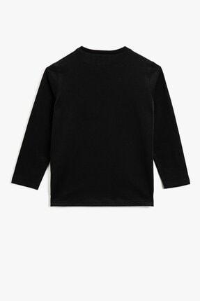 Koton Erkek Çocuk Pamuklu Yazılı Baskılı Uzun Kollu T-shirt 1kkb16969ok 2