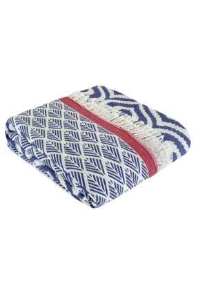 Throw Örtü | Comfort | 135x170 cm | Kot Mavisi&Kırmızı Throw / Battaniye