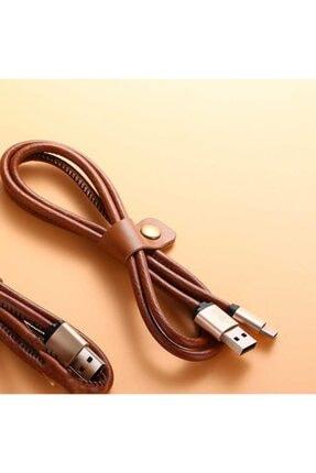 Xipin Lx1385 Cable Type-c Şarj Ve Data Kablosu Deri 1m. 2.1a Gold 4