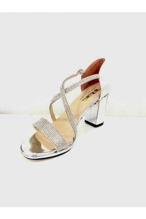 PUNTO Kadın Çapraz Bant Kalın Topuklu Ayakkabı 529133 2