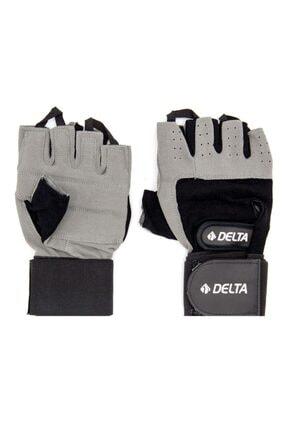 Delta Bilek Bandajlı Gri Ağırlık Body Fitness Eldiveni 0