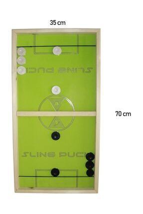 N Mobilya Ekonomik Slingpuck Hızlı Sapan Oyunu Ahşap Sling Puck 3 Adet 2