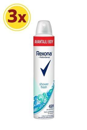 Rexona Kadın Deodorant Sprey Shower Fresh 200 ml X3 0