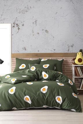 Zeynep Tekstil Avocado %100 Pamuk Ranforce Çift Kişilik Avakado Nevresim Takımı 1