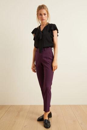 adL Kadın Mor Paçası Yırtmaçlı Cepli Pantolon 0