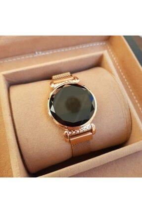 Picture of Bileklik Hediyeli Dokunmatik Ekran Mıknatıslı Rose Gold Taşlı Kadın Saati