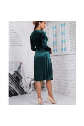 Kadife Zümrüt Yeşil Elbise Kdfelb003 Zümrüt Yeşil Kadife Elbise
