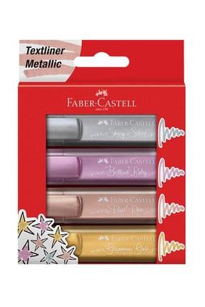 Faber Castell Fosforlu Kalem Metalik Renkler 4'lü Set f154640 0
