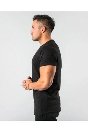 EMTA Erkek Siyah  Basic Pamuk Bisiklet Yaka T-shirt 1