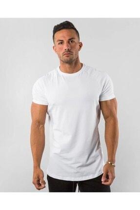 EMTA Beyaz Erkek Basic %100 Pamuk Bisiklet Yaka T-shirt 0