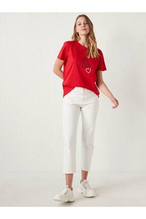LC Waikiki Kadın Kırmızı Tişört 2