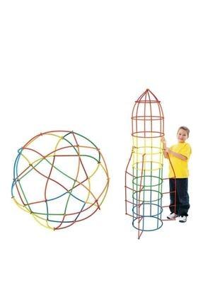 Hedd 4d Dıy Block Bambu Çubukları Oyuncak Seti Yaratıcı Montaj Oluşturucu Eğitim Oyuncağı 0