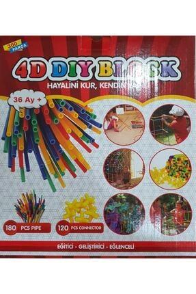Hedd 4d Dıy Block Bambu Çubukları Oyuncak Seti Yaratıcı Montaj Oluşturucu Eğitim Oyuncağı 1
