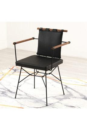 Mars Mobilya Penyez Siyah Tel Sandalye 1