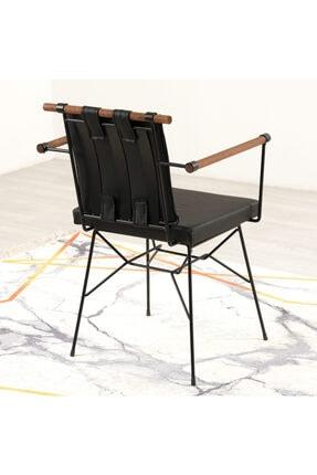 Mars Mobilya Penyez Siyah Tel Sandalye 3