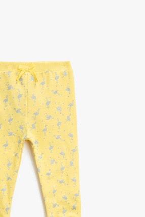 Koton Kız Bebek Sarı Eşofman Altı 2