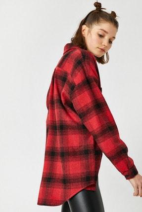 Koton Kadın Kırmızı Ekoseli Gömlek 1KAL68239IW 0