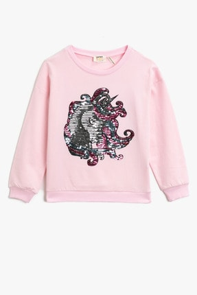 Koton Kız Çocuk Pembe Sweatshirt 1YKG17188OK 0