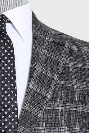 Hatemoğlu Siyah Kareli Mix Takım Elbise 1