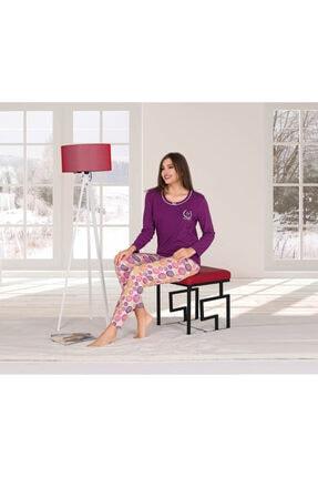 Penyelux Mor Altı Desenli Pijama Takımı 0