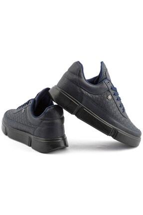 L.A Polo Erkek Lacivert Renk Siyah Taban Spor Ayakkabı 017 3