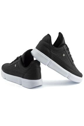 L.A Polo Erkek Siyah Renk Beyaz Taban Spor Ayakkabı 017 3