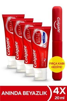 Colgate Optic White Anında Beyazlık Beyazlatıcı Diş Macunu 4 X 75 ml + Diş Fırçası Kabı Hediye 0