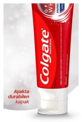 Colgate Optic White Anında Beyazlık Beyazlatıcı Diş Macunu 4 X 75 ml + Diş Fırçası Kabı Hediye 3