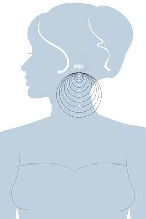 VELCCİ Kadın Gümüş Küpe 10/30/50/70/90mm Düz Şarnel Halka Altın/Silvr/Rose Kaplama Özel Tasarım Mücevher 2