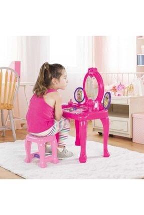 Dolu Barbie Ayaklı Makyaj Masası Ve Sandalye Seti 1