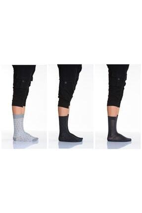 Idilfashion 3'lü Desenli-düz Karışık Erkek Soket Çorabı-7 LTEASO1803502