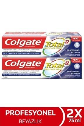 Colgate Total Profesyonel Beyazlık Beyazlatıcı Diş Macunu 2 X 75 ml 0