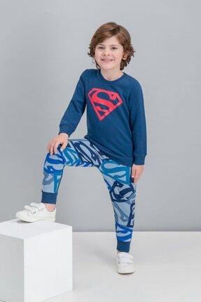 Superman Lisanslı Mavi Erkek Çocuk Eşofman Takımı 1