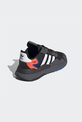adidas Erkek Siyah Bağcıklı Sneaker 4
