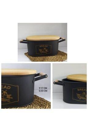 MİEN Kesme Tahtalı Ekmeklik Siyah-gold Baskı 0