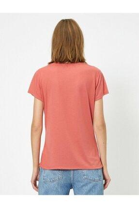 Koton Kadın Pembe T-shirt 4