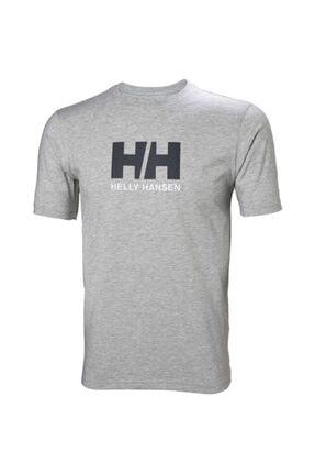 Helly Hansen Hh Logo Erkek T-shirt Gri Melanj 0