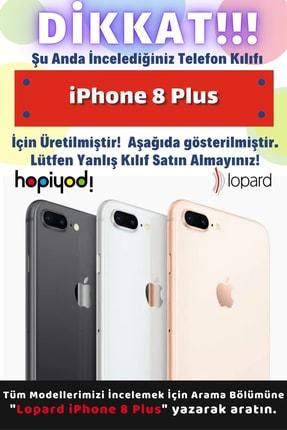Lopard Apple Iphone 8 Plus Kılıf Pastel Renkler (8) Baskılı Kılıf Turkuaz Beyaz 1