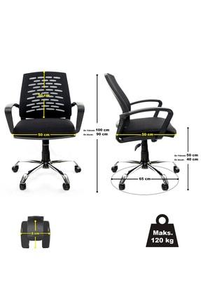 GREY Ev Ofis Çalışma Sandalyesi Bilgisayar Koltuğu 4