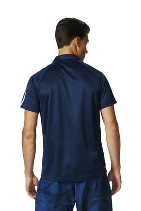 adidas Bp7224 D2m 3s Lacivert Polo Erkek T-shirt 2
