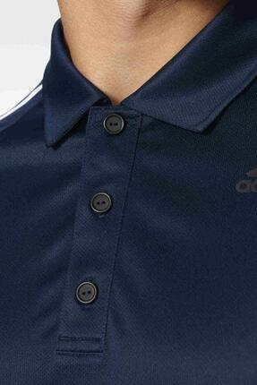 adidas Bp7224 D2m 3s Lacivert Polo Erkek T-shirt 3