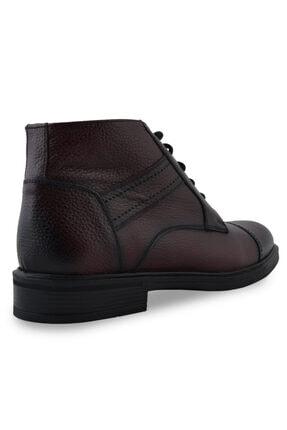 Sevim Ayakkabı Hakiki Deri Erkek Bordo Casual Içi Yünlü Bot 2