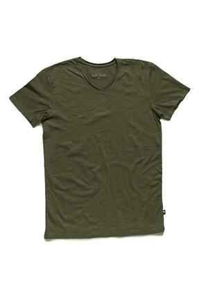 Bad Bear V-neck Tee Forest Yeşil Tişört (18.01.07.012-c09) 1