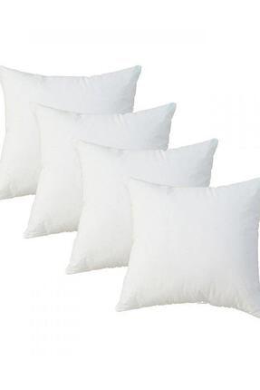 LadyModa Beyaz Kırlent Içi Yastık 4 Adet 43x43 Cm 0