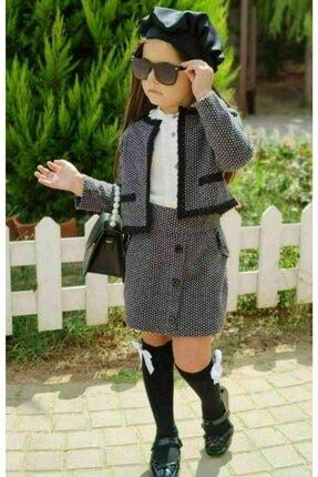 Riccotarz Kız Çocuk Madam Cute Ekoseli Şort Etekli Takım 2