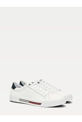 Tommy Hilfiger Erkek Beyaz Sneaker Essentıal Deri Sneaker EM0EM00488 0