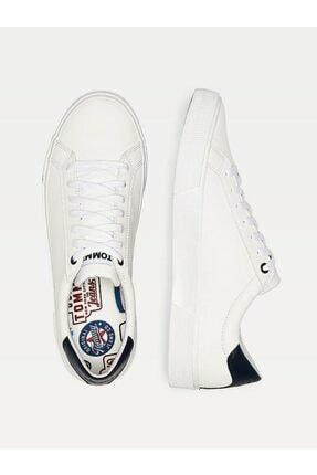 Tommy Hilfiger Erkek Beyaz Sneaker Essentıal Deri Sneaker EM0EM00488 1