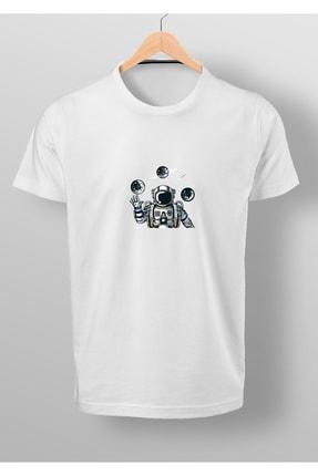 By Okat Astronot2 Baskılı T-shirt 0