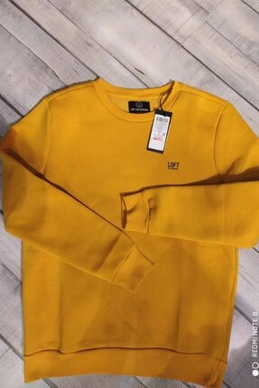 Loft Erkek Sarı Regular Fit Sweatshirt Lf2023029 0