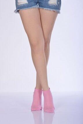 Idilfashion 4'lü Paket - Kabartmalı Kadın Patik Çorabı - Pembe B-art023 I4W023021416